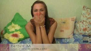 Cute cutie feels a dick unfathomed in her snatch for the foremost time
