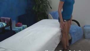 Blond cutie asks the lad that is massaging her top-drawer body if this guy is not against of stuffing sweet twat unconnected with his dick. Answer of lady's man can't be negative. This Guy becomes literal and starts inculcation the beauty hard.