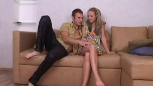 Cute blond legal life-span teenager is luring stud into having in violation together with wild sex