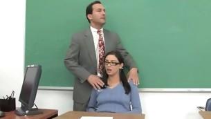 Shapely schoolgirl meeting her first big mature horseshit