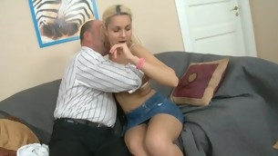 Sweet doll is getting her twat drilled by tutor tame from behind