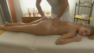 Darling gives pleasurable oral sex after possessions oil palpate