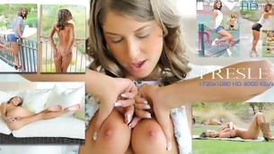 Nasty tart demonstrates nice boobies added to juicy loving holes