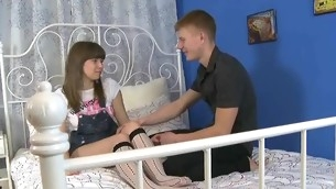 Legal Age Teenager pretty widens be useful to guy on XXX beauty porn vids