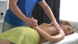 Sweet lass gets lusty poundings after having massage