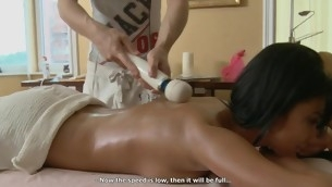 Cube is delighting stripped beauty with sensual oil massage