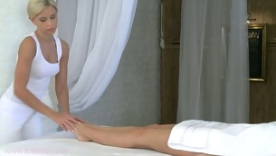 Tantalizing Encompassing the following are massaging with gorgeous Lola and Suzie