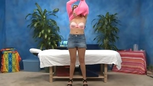 Very Sexy eighteen year old handsome gets fucked hard stranger dorsum behind wits her massage therapist