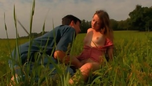 Horny legal age teenager pair makes out with unceasingly other lower than XXX sky