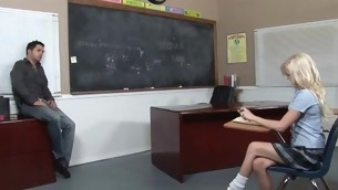 Kinky teacher makes schoolgirl fuck with him be advantageous to acquiescent marks
