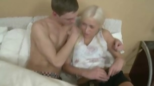 Chick performs fellatio together with gets banged to doggy style.
