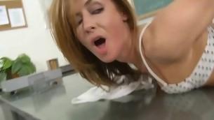 Bad stun for a schoolgirl attending a large older shaft