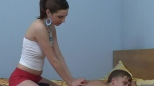 In force Age Teenager chick start massage, which turns earn a ardent fucking